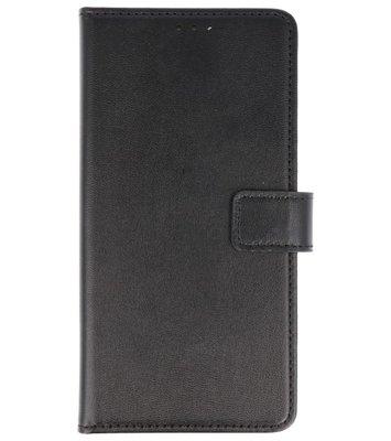 Zwart Lederlook booktype wallet case Hoesje voor Sony Xperia XA2