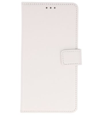 Wit Lederlook booktype wallet case Hoesje voor Sony Xperia XA2