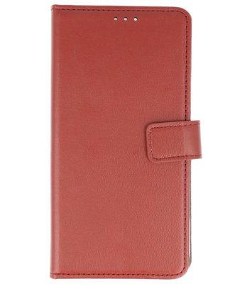 Bruin Lederlook booktype wallet case Hoesje voor Sony Xperia XA2