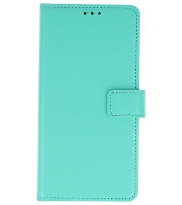 Groen booktype wallet case Hoesje voor Huawei P20
