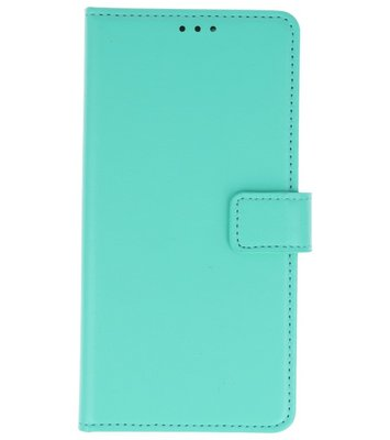 Groen booktype wallet case Hoesje voor Huawei P20 Lite