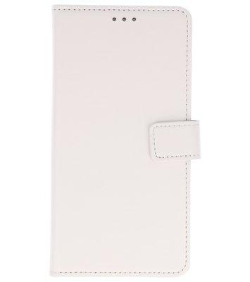 Wit booktype wallet case Hoesje voor Huawei P20 Pro