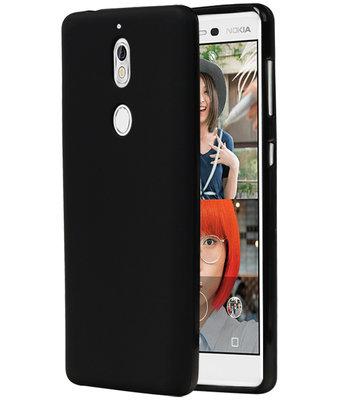 Zwart TPU back case cover Hoesje voor Nokia 7