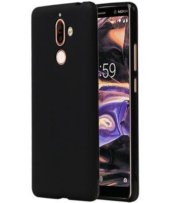 Zwart TPU back case cover Hoesje voor Nokia 7 Plus
