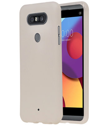 Wit TPU back case cover Hoesje voor LG Q8