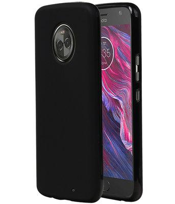 Zwart TPU back case cover Hoesje voor Motorola Moto X4