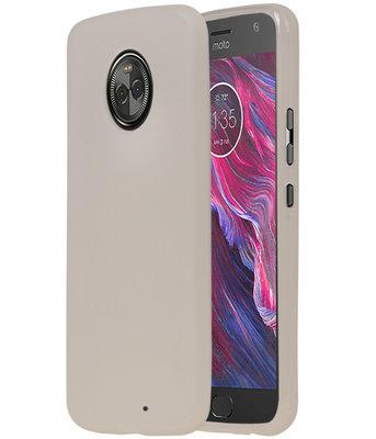 Wit TPU back case cover Hoesje voor Motorola Moto X4