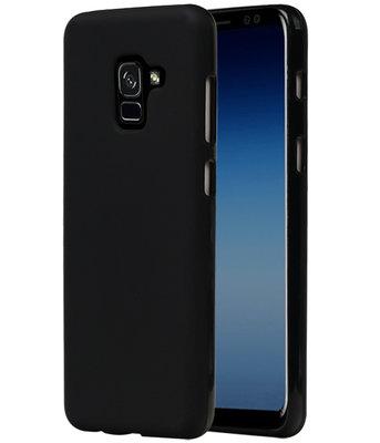 Zwart TPU back case cover Hoesje voor Samsung Galaxy A5 / A8 2018