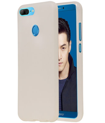 Wit TPU back case cover Hoesje voor Huawei Honor 9 Lite