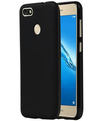 Zwart TPU back case cover Hoesje voor Huawei P9 Lite Mini / Y6 Pro 2017