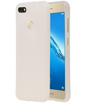 Wit TPU back case cover Hoesje voor Huawei P9 Lite Mini / Y6 Pro 2017