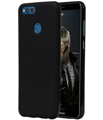 Zwart TPU back case cover Hoesje voor Huawei Honor 7X