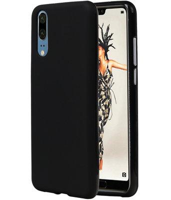 Zwart TPU back case cover Hoesje voor Huawei P20