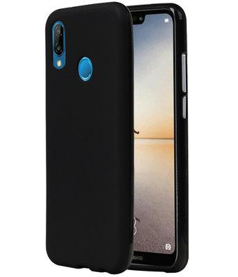 Zwart TPU back case cover Hoesje voor Huawei P20 Lite