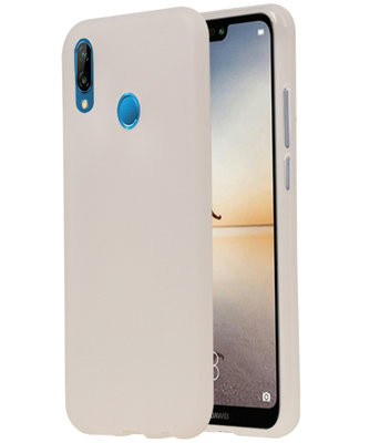 Wit TPU back case cover Hoesje voor Huawei P20 Lite