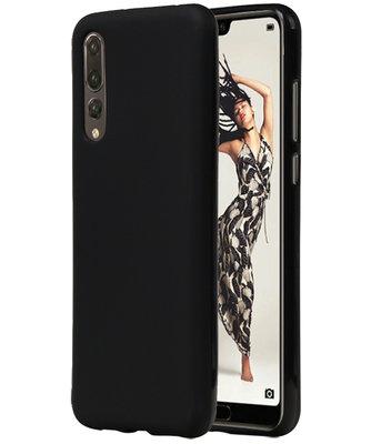 Zwart TPU back case cover Hoesje voor Huawei P20 Pro