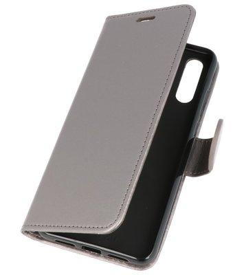Grijs Wallet Case Hoesje voor Huawei P Smart