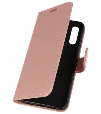 Roze Wallet Case Hoesje voor Huawei P20