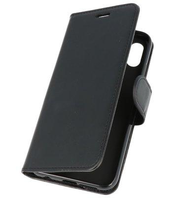 Zwart Wallet Case Hoesje voor Huawei P20 Lite