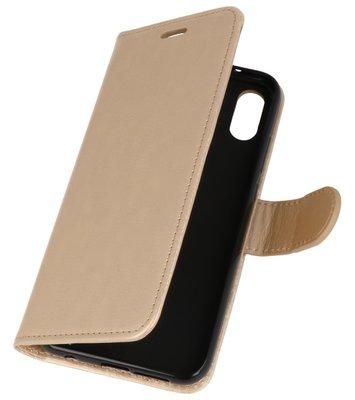 Goud Wallet Case Hoesje voor Huawei P20 Lite