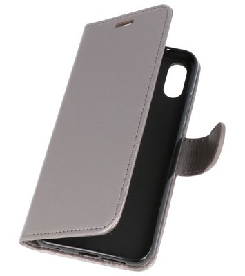 Grijs Wallet Case Hoesje voor Huawei P20 Lite