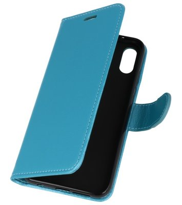 Turquoise Wallet Case Hoesje voor Huawei P20 Lite