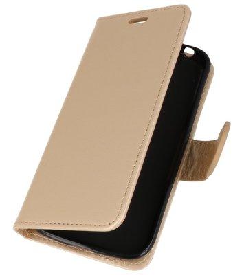 Goud Wallet Case Hoesje voor Nokia 1