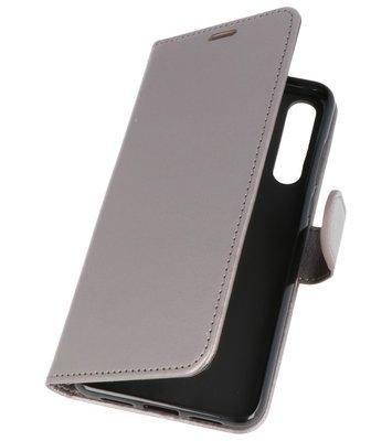 Grijs Wallet Case Hoesje voor Huawei P20 Pro