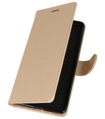 Goud Wallet Case Hoesje voor Nokia 7 Plus