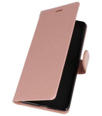 Roze Wallet Case Hoesje voor Nokia 7 Plus