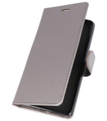 Grijs Wallet Case Hoesje voor Nokia 7 Plus