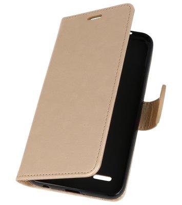 Goud Wallet Case Hoesje voor LG K10 2018