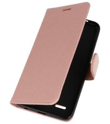 Roze Wallet Case Hoesje voor LG K10 2018