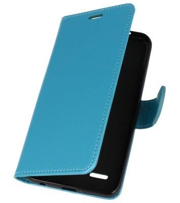 Turquoise Wallet Case Hoesje voor LG K10 2018