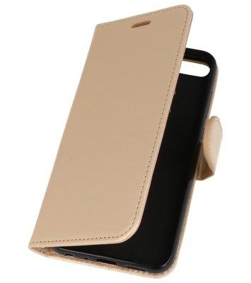 Goud Wallet Case Hoesje voor Huawei Honor 9 Lite