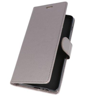 Grijs Wallet Case Hoesje voor Samsung Galaxy A8 Plus 2018