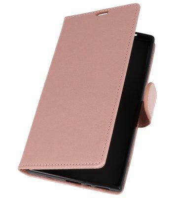 Roze Wallet Case Hoesje voor Sony Xperia L2