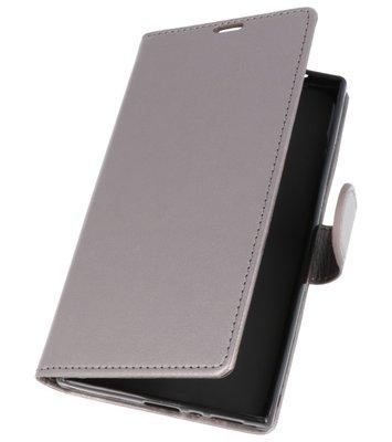 Grijs Wallet Case Hoesje voor Sony Xperia L2