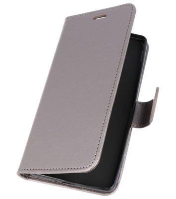 Grijs Wallet Case Hoesje voor Sony Xperia XZ2