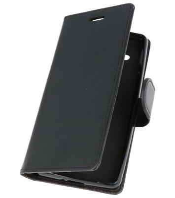 Zwart Wallet Case Hoesje voor Sony Xperia XZ2 Compact