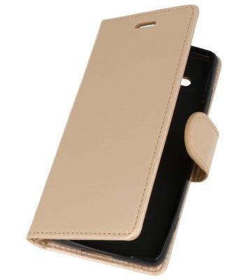 Goud Wallet Case Hoesje voor Sony Xperia XZ2 Compact