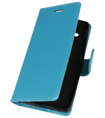 Turquoise Wallet Case Hoesje voor Sony Xperia XZ2 Compact