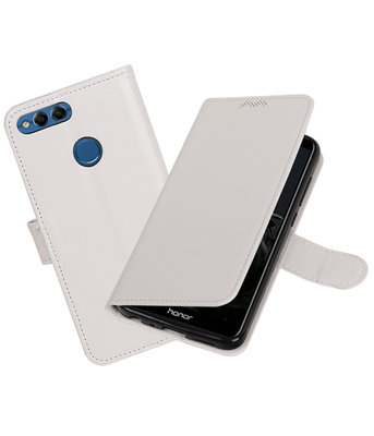 Wit Portemonnee Wallet Case Hoesje voor Huawei P Smart