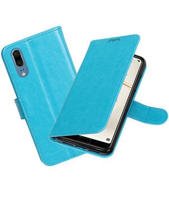 Turquoise Portemonnee Wallet Case Hoesje voor Huawei P20