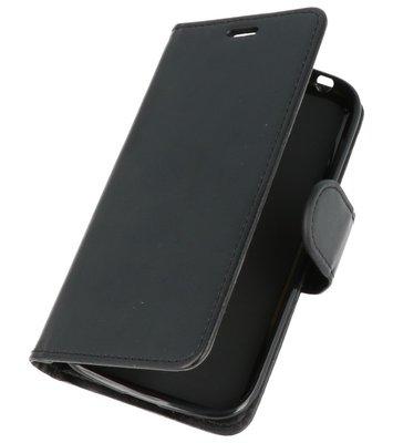 Zwart Wallet Case Hoesje voor Huawei Honor 7X