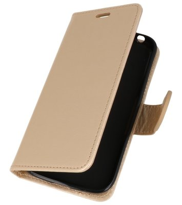 Goud Wallet Case Hoesje voor Huawei Honor 7X