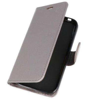 Grijs Wallet Case Hoesje voor Huawei Honor 7X