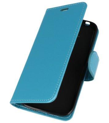 Turquoise Wallet Case Hoesje voor Huawei Honor 7X