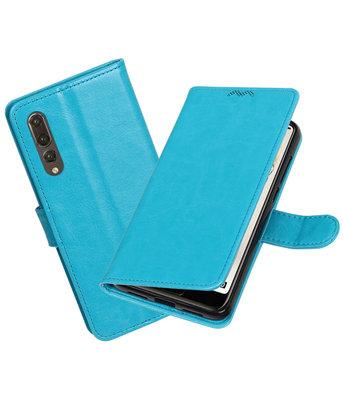 Turquoise Portemonnee Wallet Case Hoesje voor Huawei P20 Pro