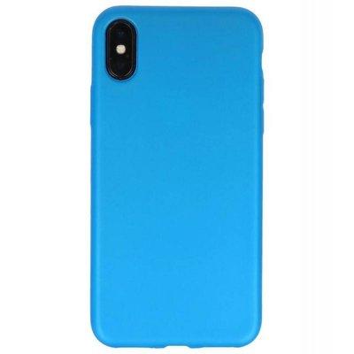 Blauw Color back cover TPU Hoesje voor Apple iPhone X